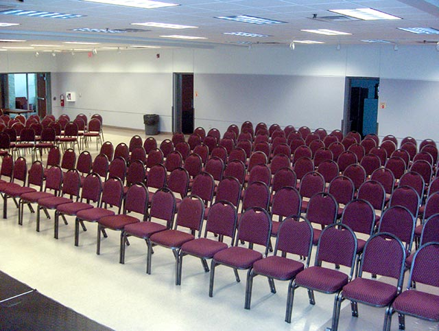 Conference Setup in Hall