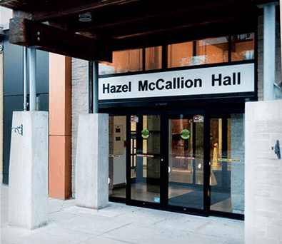 Picture of entrance to Hazel McCallion Hall